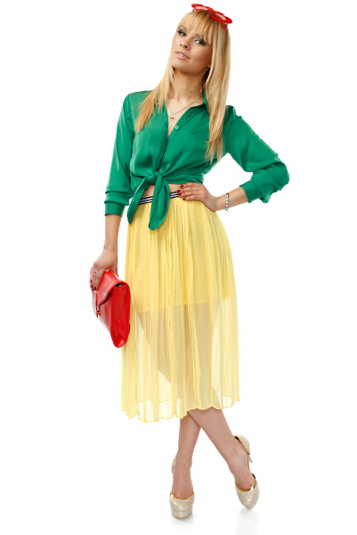 YELLOW-MAXI-SKIRT